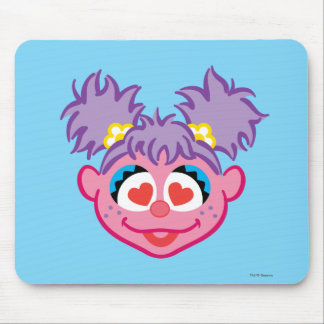 Abby Smiling Face with Heart-Shaped Eyes Mouse Pad