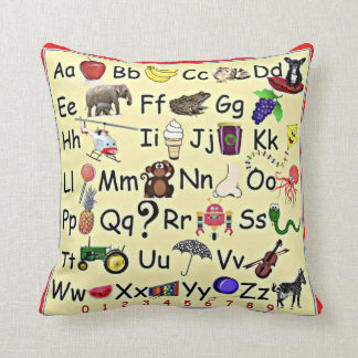 ABC 123 Alphabet Numbers Learning Pillow Preschool