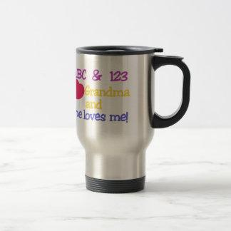 ABC & 123 I Grandma & She Loves Me! Travel Mug