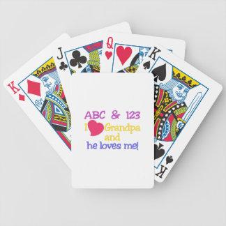 ABC & 123 I Grandpa & He Loves Me! Poker Deck