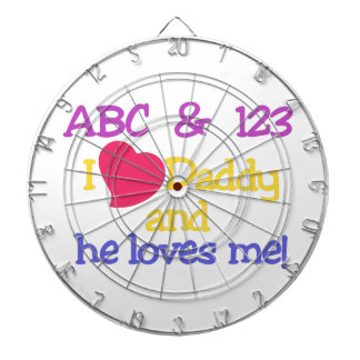 ABC & 123 I Love Daddy & He Loves Me! Dart Boards