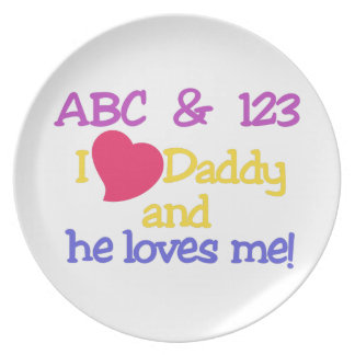 ABC & 123 I Love Daddy & He Loves Me! Plates