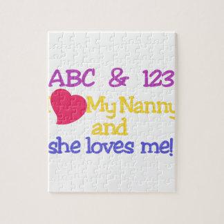 ABC & 123 I My Nanny & She Loves Me! Puzzles