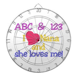 ABC & 123 I Nana And She Loves Me! Dart Boards