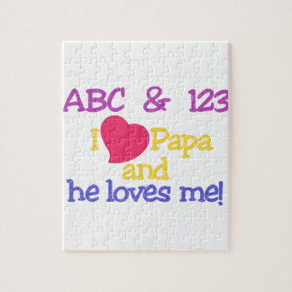 ABC & 123 I Papa & He Loves Me! Jigsaw Puzzle