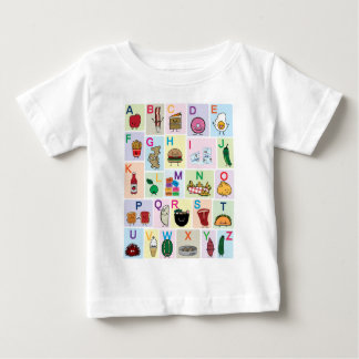 ABC Alphabet learning letters happy foods learn Baby T-Shirt