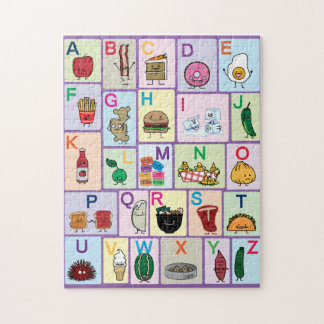 ABC Alphabet learning letters happy foods learn Jigsaw Puzzle
