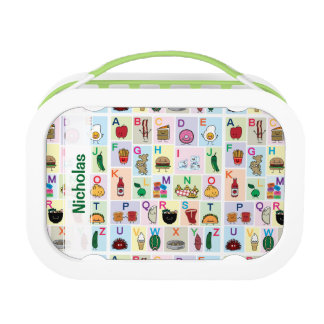 ABC Alphabet learning letters happy foods learn Lunch Box