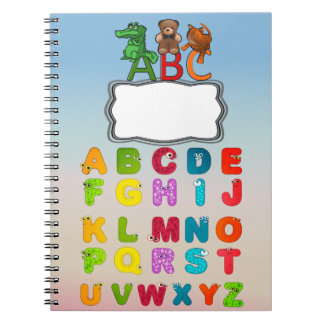 ABC Alphabet Letters Custom Spiral Notebooks
