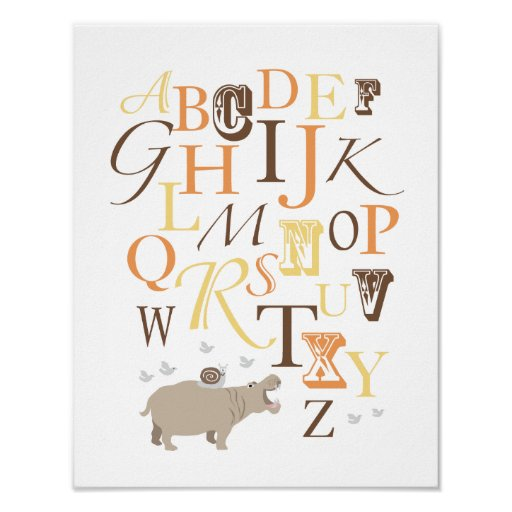 ABC Alphabet Nursery Print