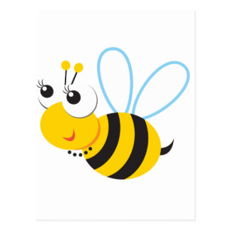 ABC Animals Betty Bee Postcard