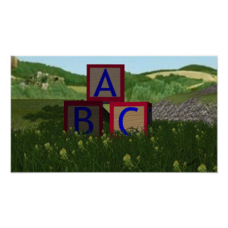 ABC Block Poster