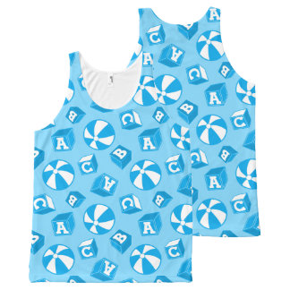 ABC blocks and balls All-Over Print Tank Top