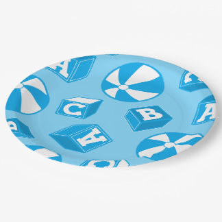 ABC blocks and balls Paper Plate