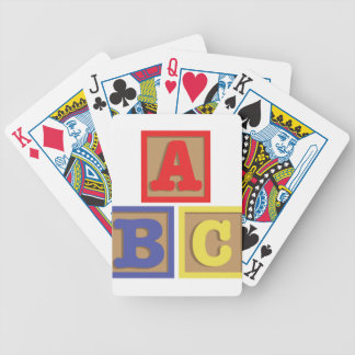 ABC Blocks Bicycle Playing Cards