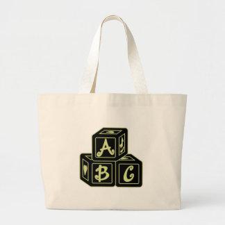 ABC Blocks Jumbo Tote Bag