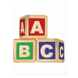 ABC Blocks Postcard
