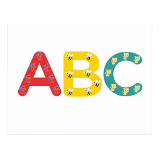 ABC by PaddleDuck Postcard