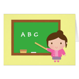 ABC Chalkboard, Thank You, Teacher Appreciation Card
