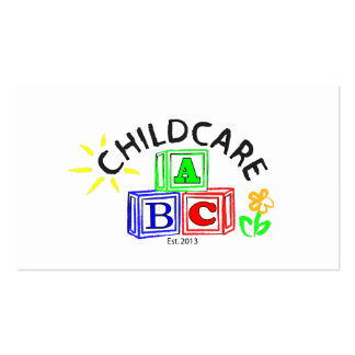 abc childcare business card template