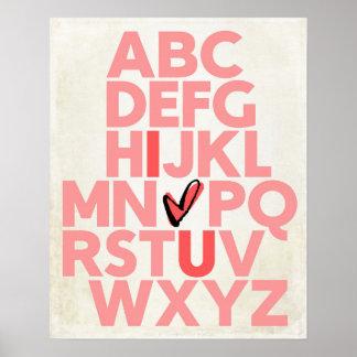 ABC I love U Poster