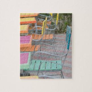 ABC Islands, ARUBA, Palm Beach: Colorful Cafe Jigsaw Puzzle