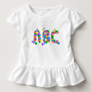 ABC Learn Toddler Ruffle Tee