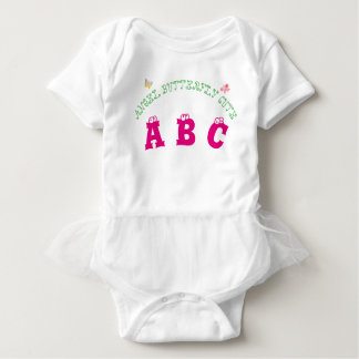 ABC LETTER ANGEL BUTTERFLY CUTE WORDS FOR GIRL BABY BODYSUIT