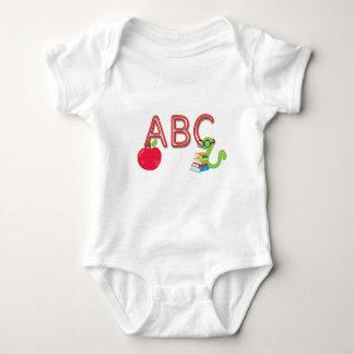 ABC Neon Letters Bookworm Baby Bodysuit