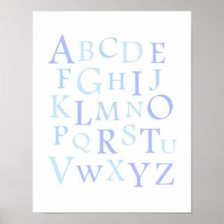 ABC Nursery Blue Typography Print