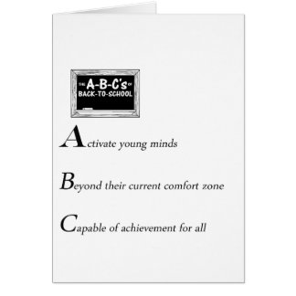 abc of back to school copy card
