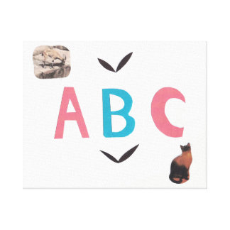 ABC on Wrapped Canvas