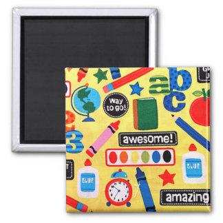 ABC School Amazing Square Magnet