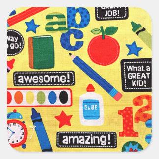 ABC School Amazing Square Sticker