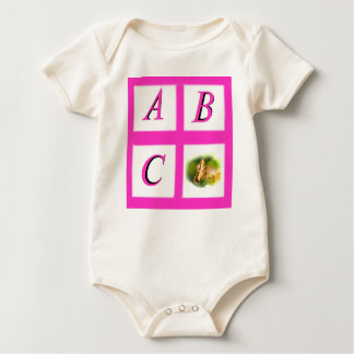abc window pain butterfly baby bodysuit