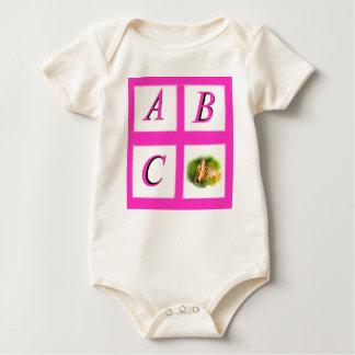 abc window pain butterfly baby bodysuit