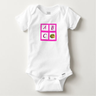 abc window pain butterfly baby onesie