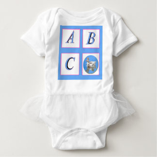 abc window pain ducks baby bodysuit