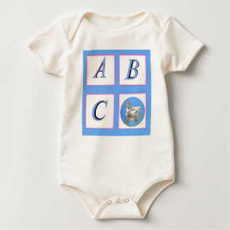 abc window pain ducks baby bodysuit