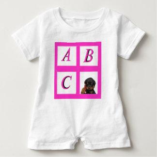 abc window pane rottweiler baby bodysuit