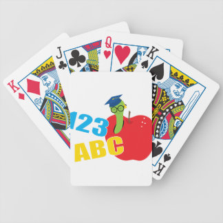 ABC Worm Bicycle Playing Cards