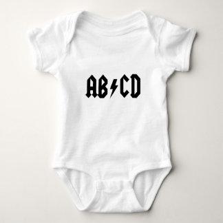 ABCD ACDC BABY BODYSUIT