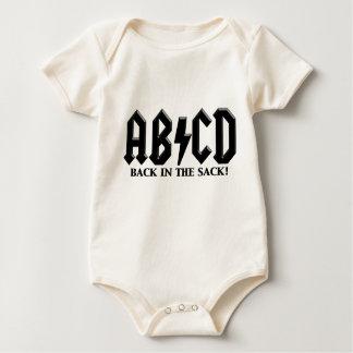ABCD Black in the Sack Baby Bodysuit