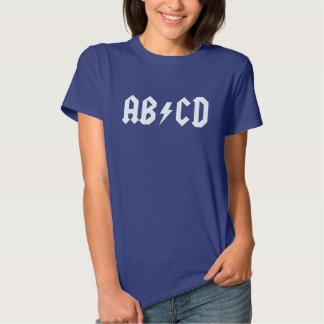 ABCD Funny Parody Ladies Shirt