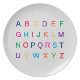 ABC's Alphabet learning colorful ABC letters Plates