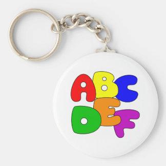 ABC's Basic Round Button Key Ring