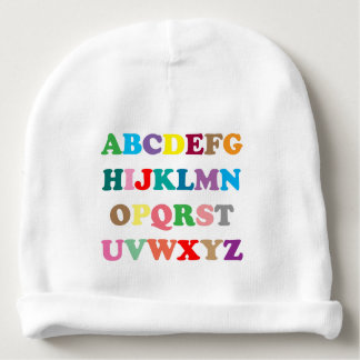 ABC's colorful lettering Baby Beanie
