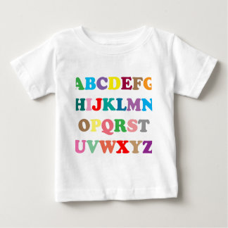 ABC's colorful letters Baby T-Shirt