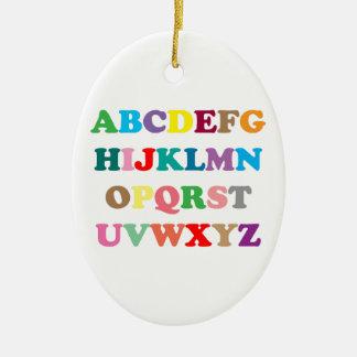 ABC's colorful letters Ceramic Ornament