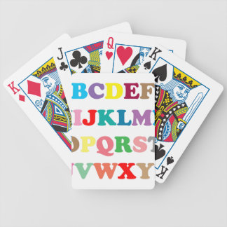ABC's colorful letters Poker Deck